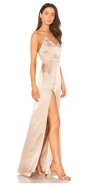 Style Stalker Lilah Maxi Dress in beige - Poly blend. Hand wash cold. Fully lined. Adjustable...