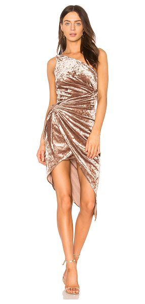Style Stalker Sasha One Shoulder Dress in rose - Poly blend. Dry clean only. Fully lined. Draped fabric...
