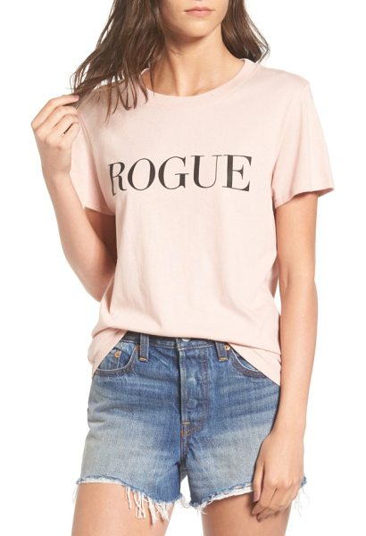 Sub Urban Riot rogue graphic tee in blush - Make like a certain bob-haired editrix and go rogue,...