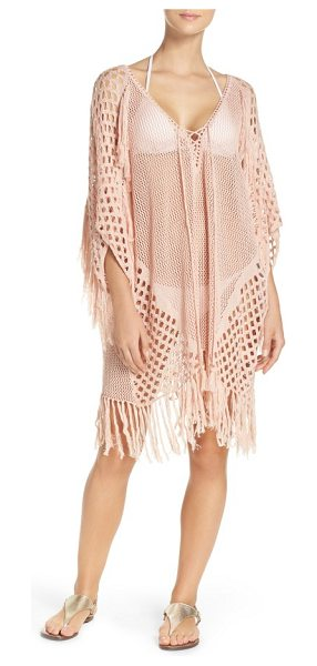 Suboo new romantics cover-up caftan in blush - Bring the boho beachside and beyond.