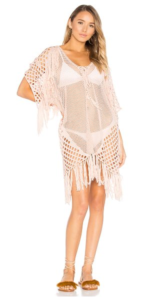 Suboo New Romantics Fringe Caftan in blush - 100% cotton. Hand wash cold. Unlined. Lace-up front with...
