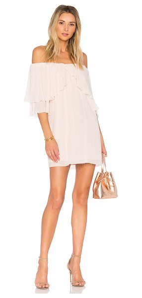 "SUBOO Perfect Day Off Shoulder Dress - ""Self: 97% poly 3% spandexLining: 100% rayon. Hand wash..."