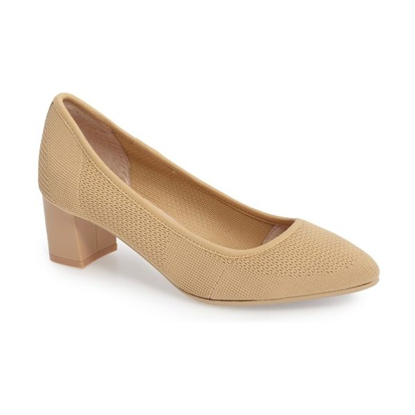 Sudini barclay stretch woven pump in nude leather - Stretchy, breathable knits have made the transition from...