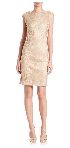 SUE WONG Metallic sequined-applique dress - Metallic-finished dress with sequined...
