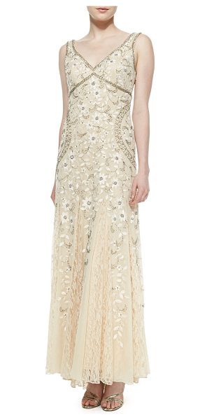 SUE WONG Sleeveless beaded lace bottom gown - Top-beaded gown by Sue Wong with lace skirt. Recommended...