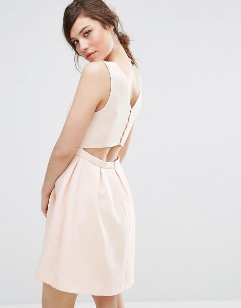 "Suncoo Back Detail Dress in pink - """"Dress by Suncoo, Textured woven fabric, Smooth lining,..."