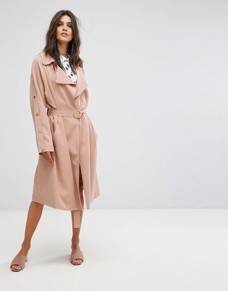 """SUNCOO Clean Duster Coat - """"""""Coat by Suncoo, Smooth woven fabric, Unlined design,..."""