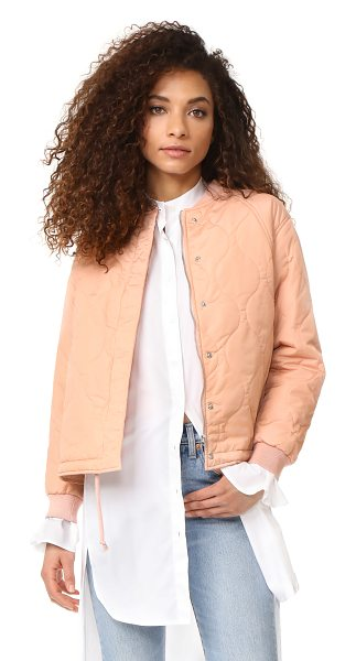 Suncoo elfy bomber jacket in nude - A lightly padded Suncoo bomber jacket in a quilted...