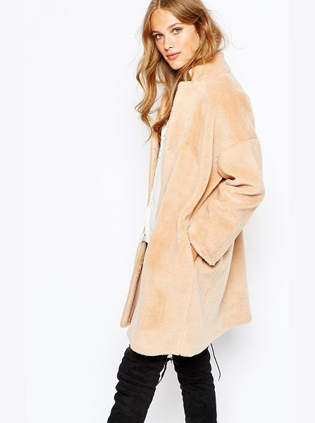 SUNCOO Elvie Coat - Coat by Suncoo, Faux fur, Fully lined, Stand collar,...