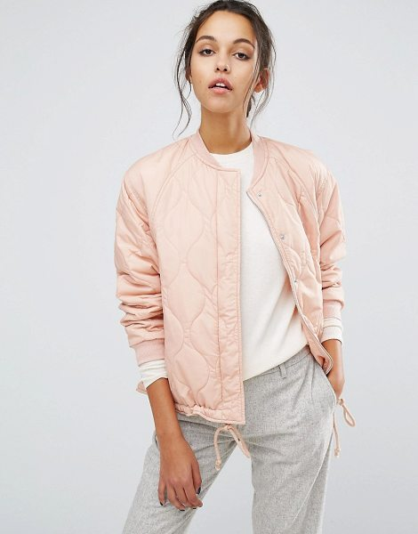"SUNCOO Padded Bomber Jacket - """"Bomber jacket by Suncoo, Lined woven fabric, Padded..."