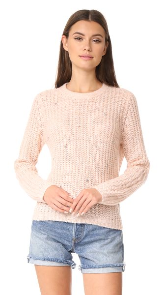 Suncoo pavel sweater in nude - A sparse arrangement of crystals adds unexpected glamour...