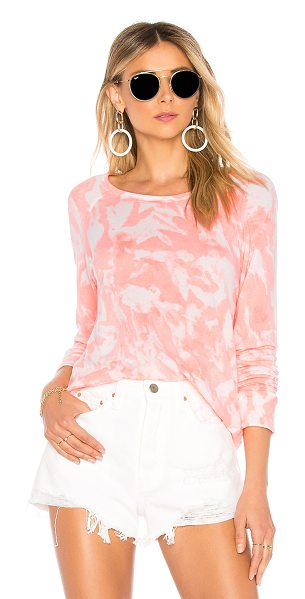 Sundry Crop Pullover in coral - 46% tencel 28% pima cotton 26% rayon. French terry...