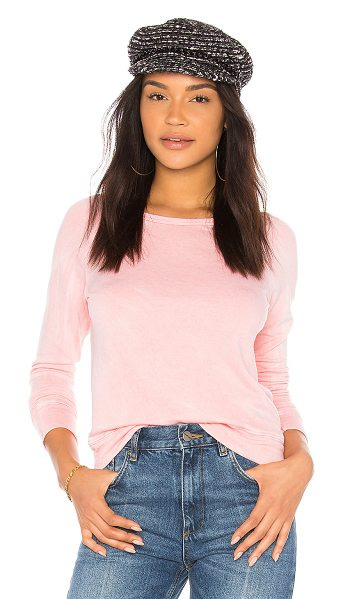 Sundry Crop Sweater in pink - 46% tencel 28% pima cotton 26% rayon. French terry...