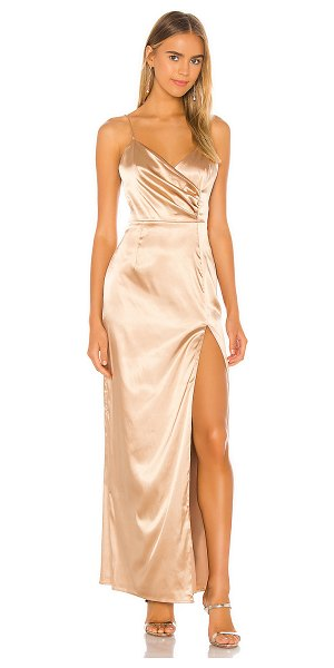 superdown adrena slit maxi dress in bronze