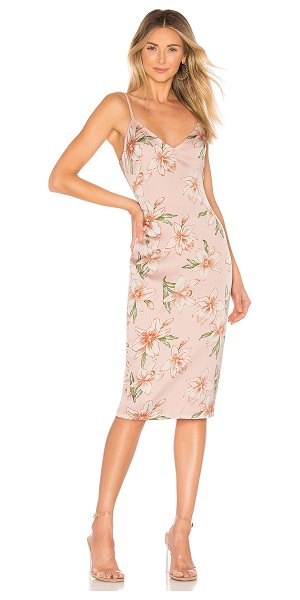 superdown Andi Tie Back Dress in pink - Self & Lining: 100% poly. Hand wash cold. Fully lined....