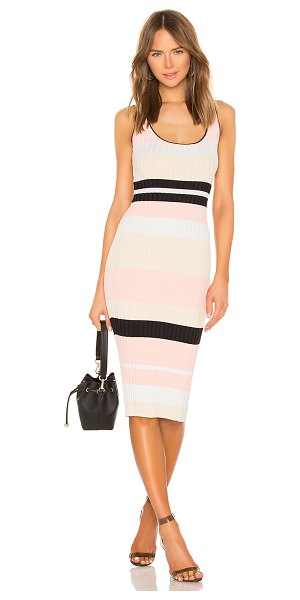 superdown Brooklyn Knit Midi Dress in pink - 75% rayon 15% nylon 10% spandex. Hand wash cold....