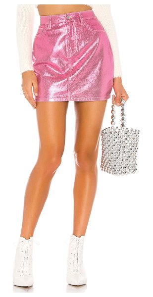 superdown cindy mini skirt in pink metallic
