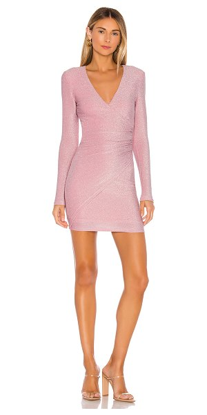 superdown laurie wrap dress in pink