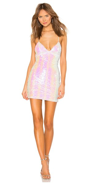 superdown tamia lace up dress in opal