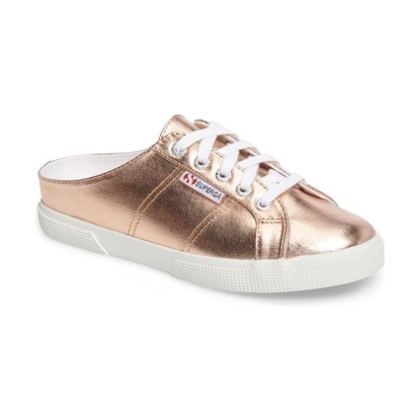 Superga 2288 sneaker mule in rose gold - A fan-favorite sneaker gets updated in a breezy backless...