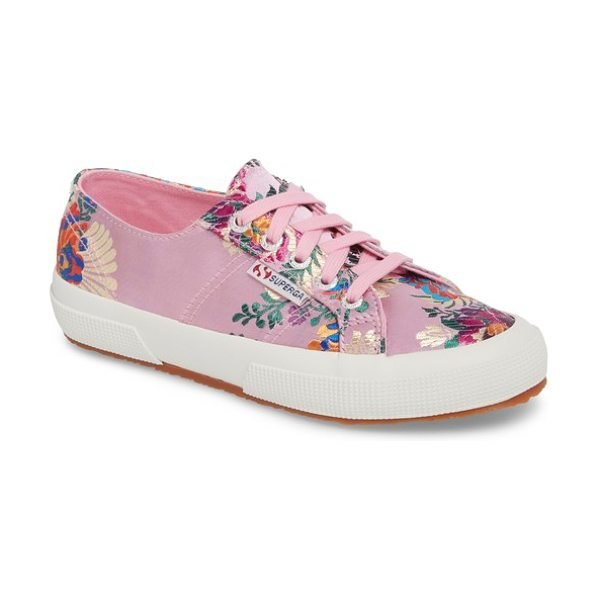 SUPERGA 2750 embroidered sneaker - Ornate embroidery adds vibrant color and texture to a...