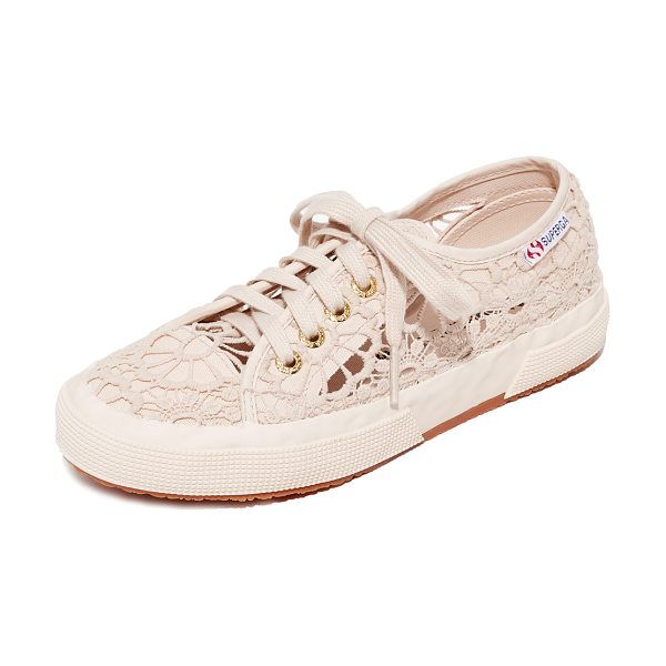 SUPERGA 2750 macrame cotu sneakers - Daisy-patterned lace lends summer-ready appeal to these...