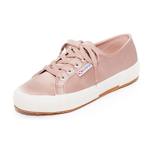 Superga 2750 satin classic sneakers in blush - Classic Superga low-top sneakers updated in luxe satin....