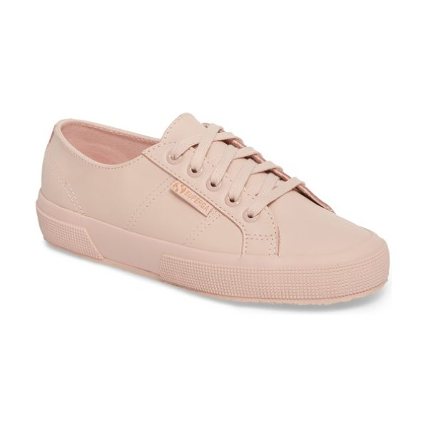 Superga '2750' sneaker in light pink - Smooth leather composition provides a fresh,...