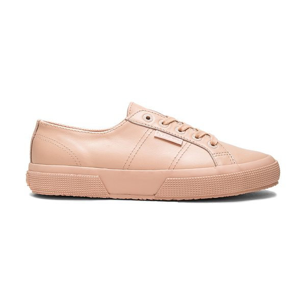 SUPERGA 2750 Sneaker - Leather upper with rubber sole. Lace-up front....