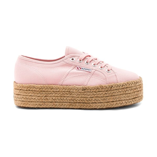 "Superga 2790 Sneaker in pink - ""Canvas upper with rubber sole. Lace-up front. Jute..."