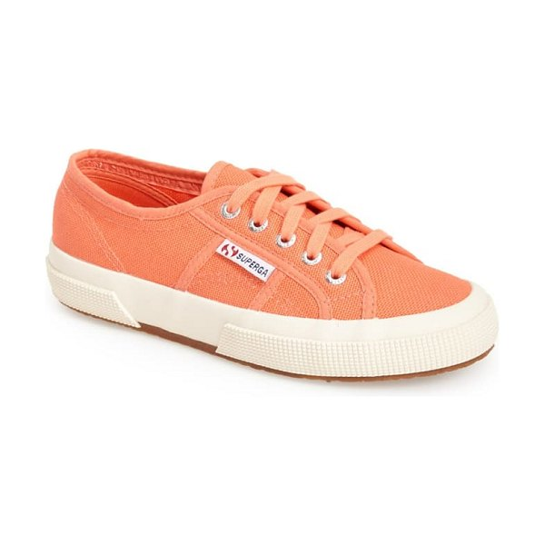 Superga 'cotu' sneaker in coral