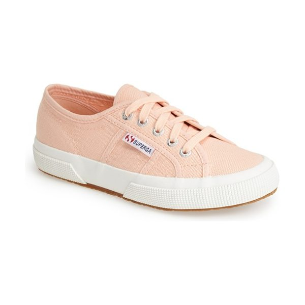 Superga 'cotu' sneaker in pink peach - Casual kicks in an array of terrific colors. The...