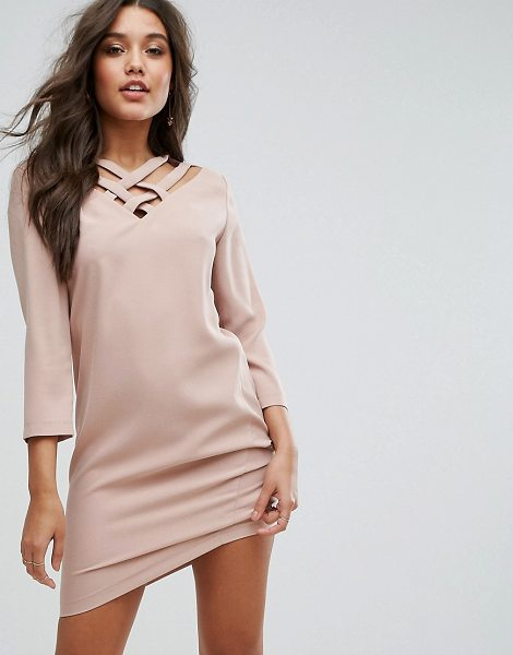 "Supertrash Dazil Shift Dress in pink - """"Dress by SuperTrash, Smooth woven fabric, Strappy..."
