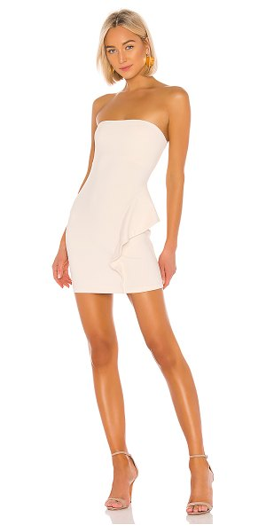 Susana Monaco 16 strapless dress with ruffle detail in blanched almond