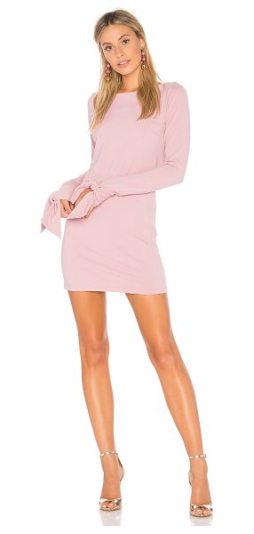 Susana Monaco Tied Sleeve Mini Dress in pink - 86% nylon 14% lycra. Partially lined. Tie detail at arm...