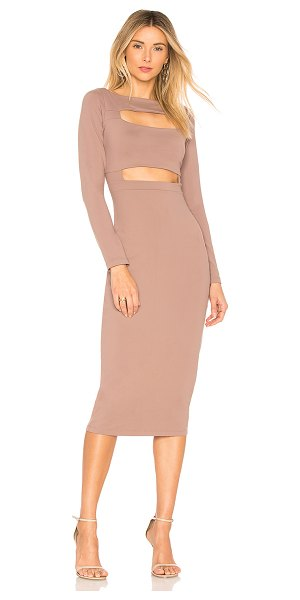 SUSANA MONACO Connor Front Cutout Dress - 86% nylon 14% lycra. Unlined. Front cut-outs. Stretch fit....