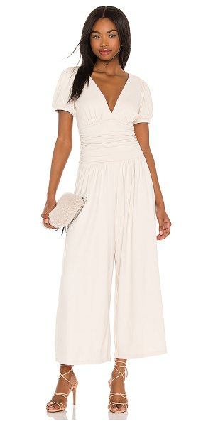 Susana Monaco gathered jumpsuit in blanched almond