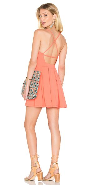 Susana Monaco Gigi Dress in coral - 94% nylon 6% spandex. Unlined. Stretch fit. SUSA-WD1666....