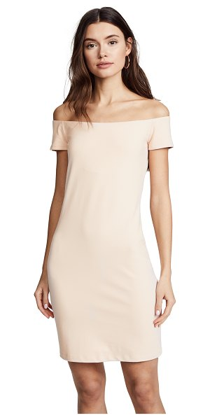 SUSANA MONACO keira off the shoulder dress in nude - A little black dress designed with a flirty...