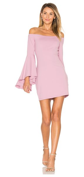 "Susana Monaco Off Shoulder Dress in pink - ""86% nylon 14% lycra. Unlined. Elasticized neckline...."