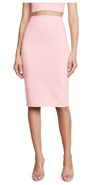 Susana Monaco slim skirt in pink sand - Fabric: Mid-weight stretch jersey High-waisted...