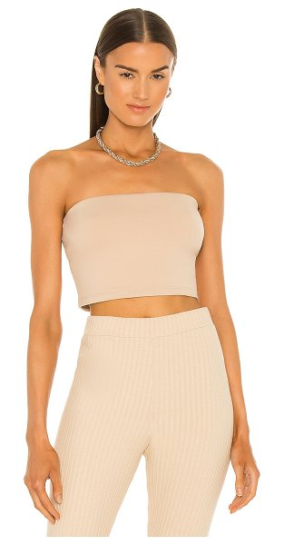 Susana Monaco strapless crop top in parchment