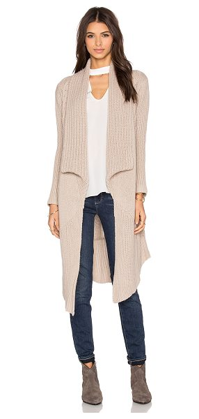 SUSS Estrella cardigan in tan - 100% cashmere. Dry clean only. Open front. SUSR-WK23....