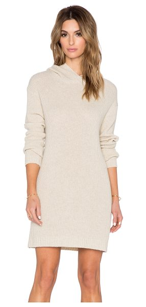 SUSS Karlie hooded sweater dress - Cotton blend. Dry clean only. Unlined. Hooded. SUSR-WD1....