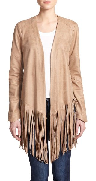 SW3 faux-leather open-front fringe jacket - Thick-cut fringe pays tribute to classic Americana in...