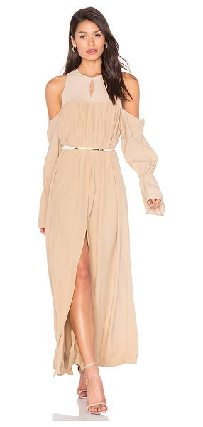 SWF Autumn dress in beige - 80% rayon 20% suede. Professional leather clean only....