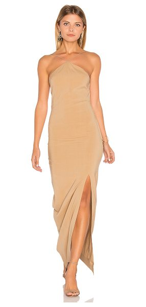 SWF Bridget Dress in beige - 100% viscose. Hand wash cold. Unlined. Exposed side...