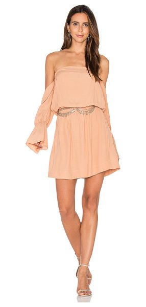 """SWF May Dress in peach - """"100% rayon. Hand wash cold. Unlined. Elastic neckline..."""