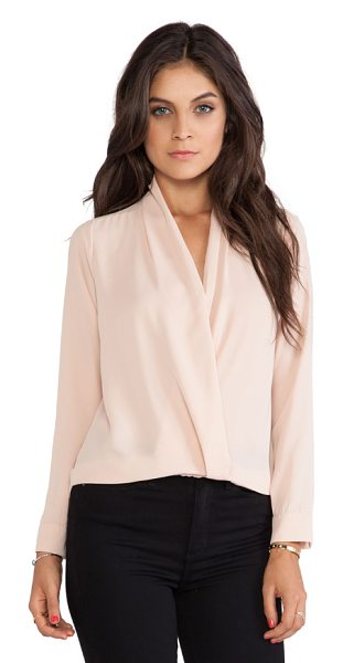 T-bags Los Angeles Cross front blouse in blush - 100% viscose. Dry clean only. TBAG-WS279. ZITP4517....
