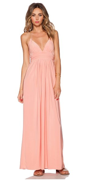 T-BAGS LOS ANGELES X back maxi dress - 96% poly 4% spandex. Dry clean only. Bustline to hem...
